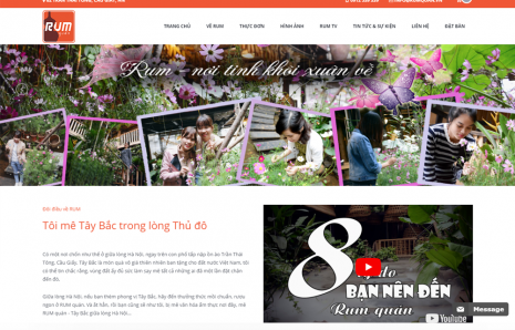 Website Rum Quán